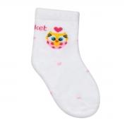 Kit 3 meias Soquete Baby Corujinha Corações Puket - 19 a 22