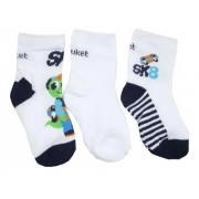 Kit 3 meias Soquete Baby Jacaré Skatista Puket - 19 a 22