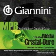 Kit 5 Encordoamento Gianinni Mpb Violao Nylon Tensao Media