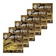 Kit 6 Encordoamento Cv82l P Viola Giannini Cebolao Em Mi