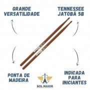 Kit 6 Pares De Baqueta Liverpool Tennessee Jatobá 5B