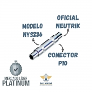 KIT COM 10 CONECTORES 2X REAN NYS236 JACK P10 MONO