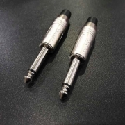 Kit com 2 conectores Santo Angelo P10 Mono Niquelado SA2X
