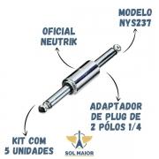KIT COM 5 CONECTORES REAN NYS237 PLUG P10 MONO 2X