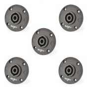 Kit com 5 conectores Speaker Para Caixa Painel 4P Polos SA2X