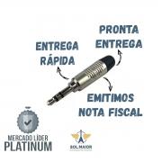 Kit com 5 Plug Neutrik Rean P10 Stereo Rtp3c