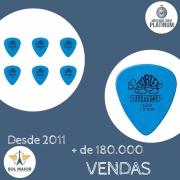 Kit com 6 Palhetas Tortex 1mm Azul 1345 - Dunlop