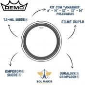 Kit de Peles Remo 6-10-12-13-14 Suede Emperor Crimplock