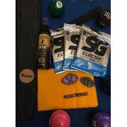 Kit do Guitarrista - Polidor Music Nomad, Encordoamento SG, Palhetas Dunlop, Correia Basso