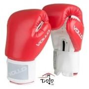 Kit Luvas Boxe Combat 8 Oz Vollo C/Bandagem e Protetor Bucal Com Estojo Vfg302-8 Vermelho