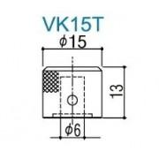 Knob Gotoh Vk15t Metal Cosmo Black Kit com 3 Unidade