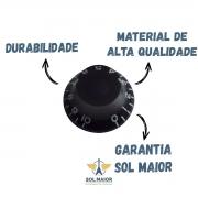 Knob Plastico Kls Blk Com 4 Unidade Preto - Volume Ou Tone