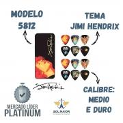 Latinha c/ 12 Palhetas Jimi Hendrix Grossa Média Dunlop 5812
