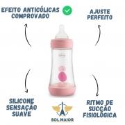 Mamadeira Chicco Perfect5 240ml (Fluxo Medio) - Rosa