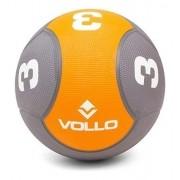 Medicine Ball 3kg Vollo Preta/laranja
