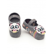 Meia Sapatilha Baby Panda Puket Cinza  - 5 a 8 meses