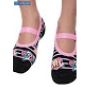 Meia Sapatilha Puket 3D Listrado Rosa GRL Cool - 23 a 27