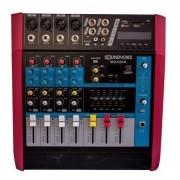 Mesa De Som Amplificada Soundvoice Ma420x - 4 Canais - 400 W