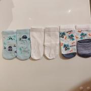Pack 3 Pares de Meia Puket Azul Polvo e cachorro 5 a 8 meses