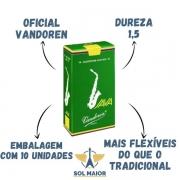 Palheta Java Para Sax Alto 1,5 Caixa Com 10 Vandoren