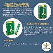 Palheta Java Para Sax Alto N°2 Caixa Com 10 - Vandoren