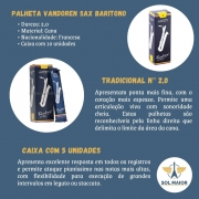 Palheta Tradicional N°2 Para Sax Baritono Caixa c/ 5 Vandoren