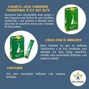 Palhetas Vandoren Java Sax Alto (caixa Com 10) - Nº 2,5