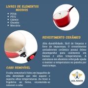 Panela com Revestimento Cerâmico 18 cm Vermelha - Le Cook