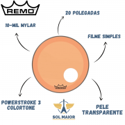 Pele Remo 20 Powerstroke 3 Colortone Laranja P3-1320-ct-org