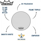 Pele Remo Bumbo Marcial 20