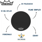 Pele Remo de Bumbo Marcial 20