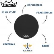 Pele Remo de Bumbo Marcial 22