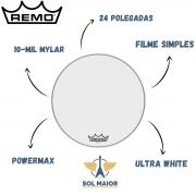 Pele Remo para Bumbo Marcial 24