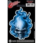 Planet Waves Guitar Tattoo Blue Flame Skull GT77011