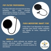 Pop Filter Profissional Para Microfone Smart Ps01