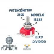 Potenciômetro 250k DSP250SBU Eixo Solido Dunlop - 15341