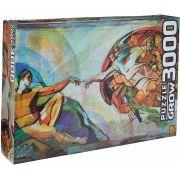 Puzzle Quebra Cabeça Grow Criação De Adão Michelangelo P3000