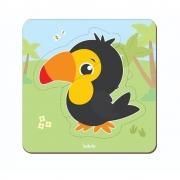 Quebra-Cabeça Baby Tucano 3 peças - Babebi 8017