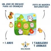 Quebra-Cabeça de Encaixe Animais da Fazenda Babebi - 6034