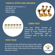 Tarraxa Gotoh Para Guitarra SG381-05 Gold - 3+3