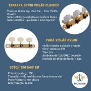 Tarraxa Gotoh Violão Clássico nylon 35G1600-EW Gold