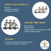 Tarraxa Niquelada Smart Violão Nylon Pino Fino TSMPF
