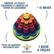 Torre do Leãozinho Brinquedo Infantil Pedagógico Babebi 6016