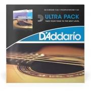 Ultra Pack Cordas D'addario Violão 011-052 Ez910 + EJ26
