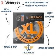 Ultra Pack Encordoamento D Addario Guitarra EXL110 + Guitarra .010 NYXL1046