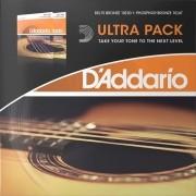 Ultra Pack Encordoamento D Addario Violão Aço .010 Ez900 + Violão Aço EJ15 0.10