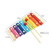 Xilofone Infantil C/8 Notas Colorido DOLPHIN 9734