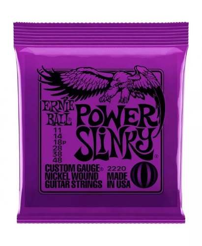 Encordoamento Para Guitarra Ernie Ball Power Slinky 011 2220