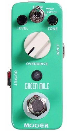 Pedal Mooer Green Mile Overdrive True Bypass Guitarra Ts9