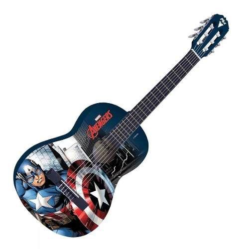 Violão Infantil Phx Marvel Capitão América + Brindes